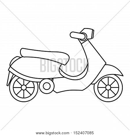 Scooter icon. Outline illustration of scooter vector icon for web