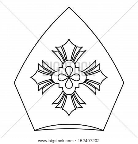 Pope hat icon. Outline illustration of pope hat vector icon for web