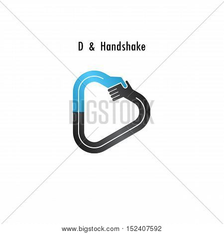 D- letter icon abstract logo design vector template.Business offerpartnership icon.Corporate business and industrial logotype symbol.Vector illustration