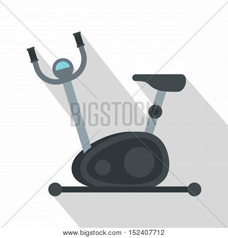Exercise bicycle icon. Flat illustration of exercise bicycle vector icon for web isolated on white background