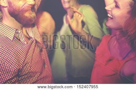 Group Of People Dancing Concept