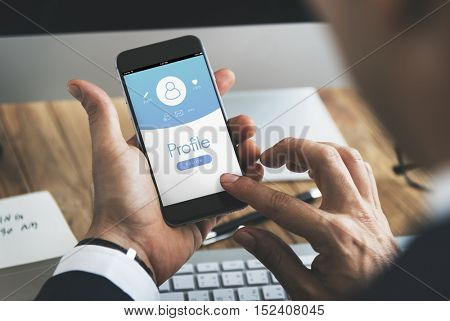 Profile User Account Registration Concept