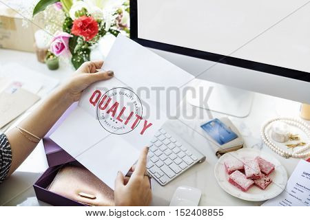 Business Quality Approved Premium Concept