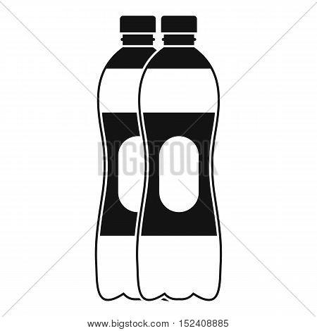 Two plastic bottles icon. Simple illustration of two plastic bottles vector icon for web
