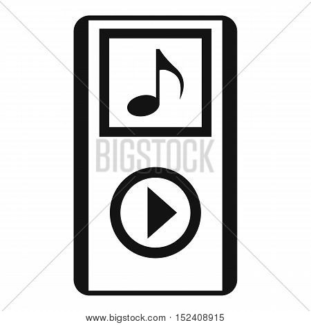 Mini MP3 portable player icon. Simple illustration of MP3 player vector icon for web