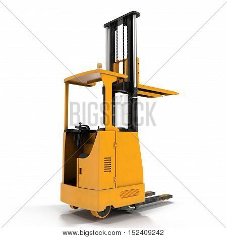 Loader isolated under the white background. 3D illustration