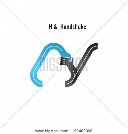 N- letter icon abstract logo design vector template.Business offerpartnership icon.Corporate business and industrial logotype symbol.Vector illustration