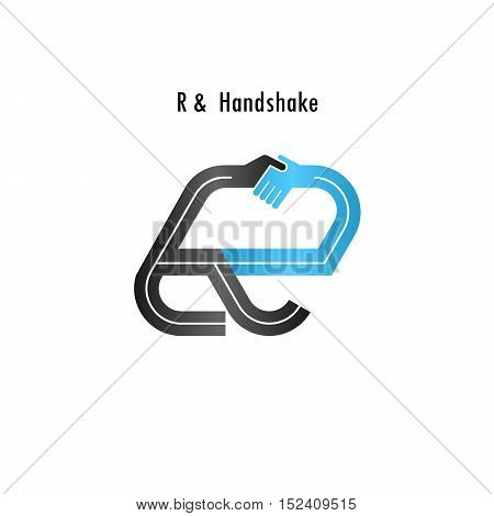 R- letter icon abstract logo design vector template.Business offerpartnership icon.Corporate business and industrial logotype symbol.Vector illustration