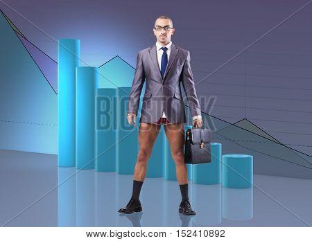 Bankrupt businessman in business concept
