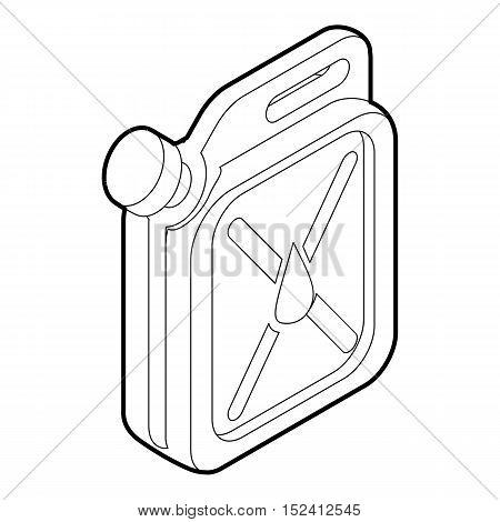 Jar of gasoline icon. Outline illustration of jar of gasoline vector icon for web