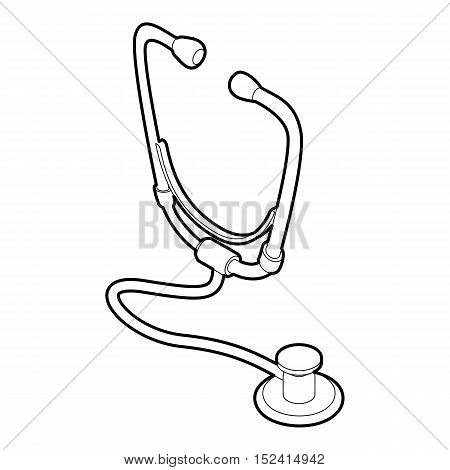 Stethoscope icon. Outline illustration of stethoscope vector icon for web