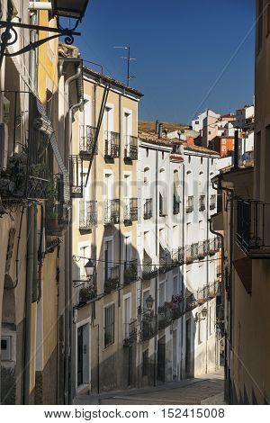Cuenca (Castilla-La Mancha Spain) an old typical street