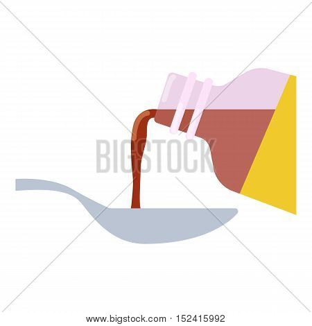 Medical syrup icon. Flat illustration of medical syrup vector icon for web