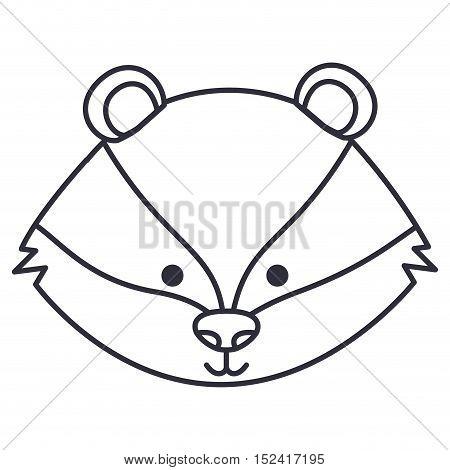 skunk cartoon icon. Cute animal creature and little theme. Isolated design. Vector illustration