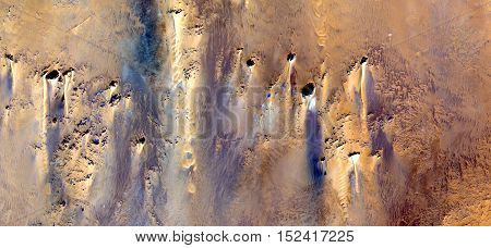power of wind, Abstract photography of landscapes of deserts of Africa from the air