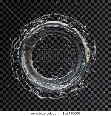 Isolated water splash on a transparent background. Rain drop splashes . 3D rendering.3d illustration.