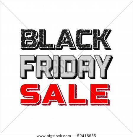 Black Friday Super sale Concept. Creative letters for special bonus headline. Typography promotion poster. Element for advertisement of season hot deal campaign banner background. Vector illustration