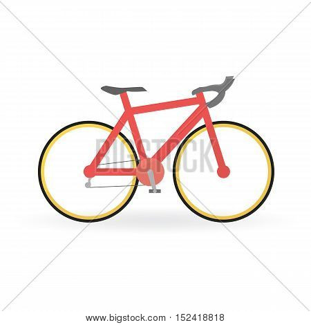 Bicycle Concept By Mountain Bike Is Red Color