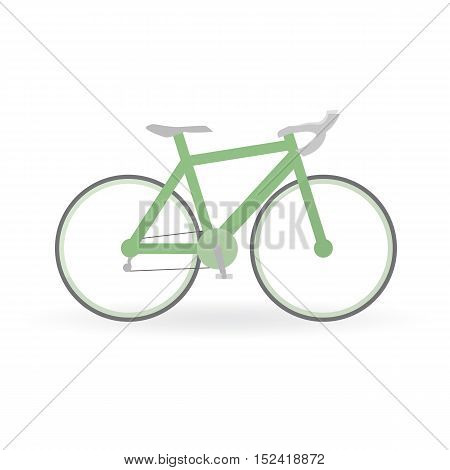 Bicycle Concept By Mountain Bike Is Green Color