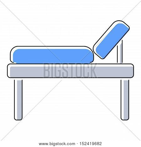 Medical bed icon. Flat illustration of medical bed vector icon for web isolated on white background