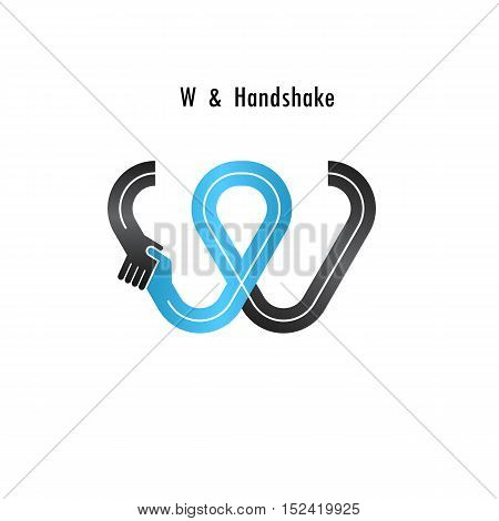 W- letter icon abstract logo design vector template.Business offerpartnership icon.Corporate business and industrial logotype symbol.Vector illustration