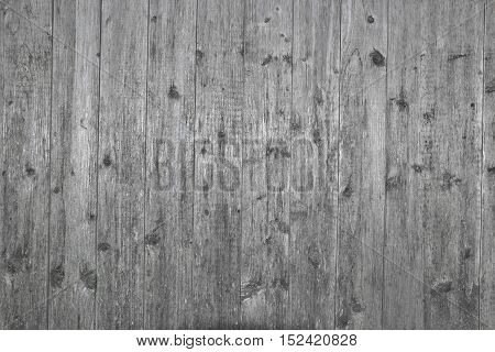Vertical grungy gray wooden boards background - old boards.
