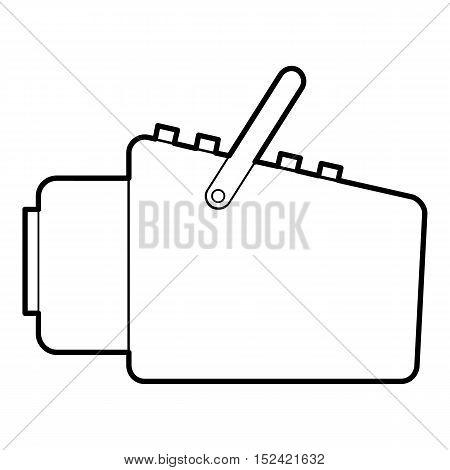 Medical scanner icon. Outline illustration of medical scanner vector icon for web