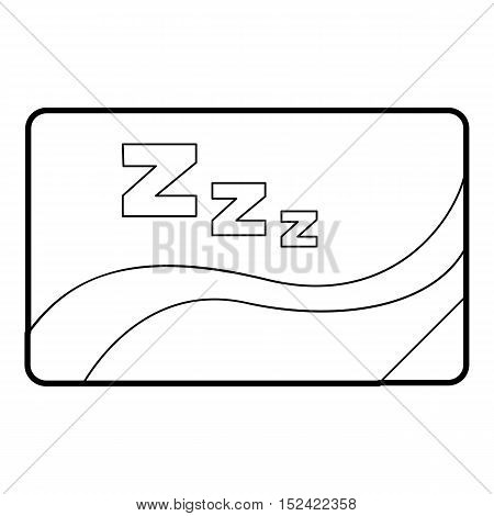 Medical card of sleep icon. Outline illustration of medical card of sleep vector icon for web