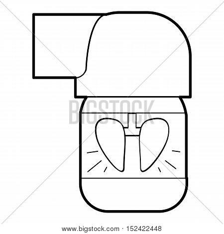 Inhaler for lung icon. Outline illustration of inhaler for lung vector icon for web