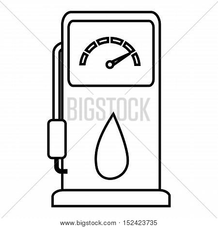 Gas station icon. Outline illustration of gas station vector icon for web