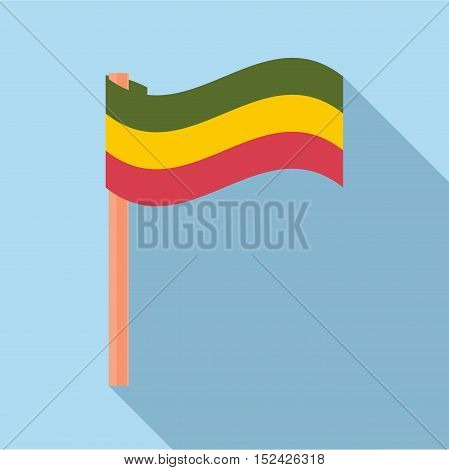 Flag rastaman icon. Flat illustration of flag rastaman vector icon for web