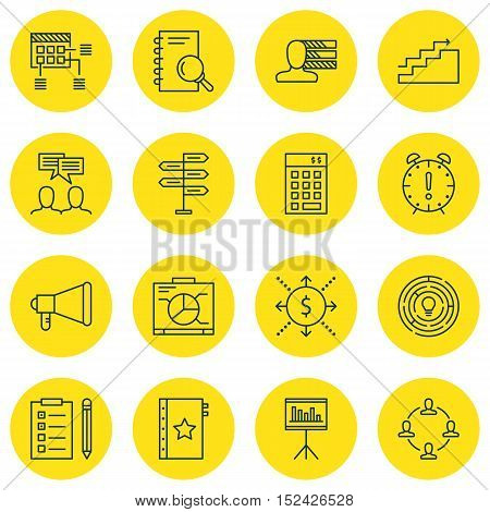 Set Of 16 Universal Editable Icons For  Topics. Includes Icons Such As Personal Skills, Analysis, In