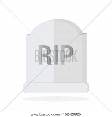 Grave Flat Design Vector, Gravestone Icon