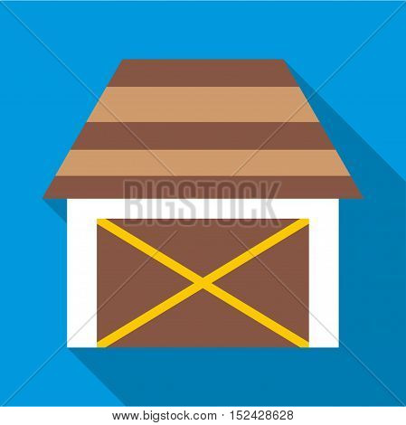Barn for animals icon. Flat illustration of barn for animals vector icon for web