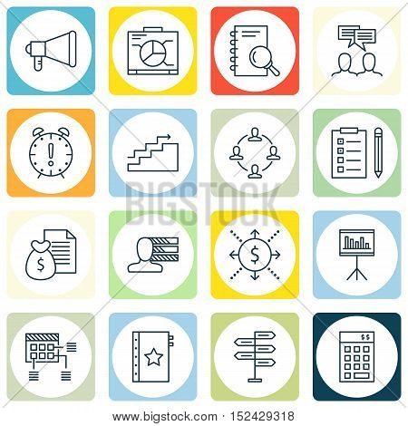 Set Of Project Management Icons On Money, Schedule And Opportunity Topics. Editable Vector Illustrat