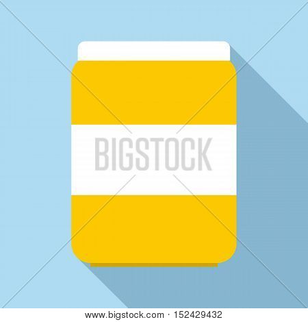 Jar of pills icon. Flat illustration of jar of pills vector icon for web