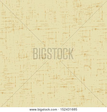 Imitation of old paper. Vector seamless pattern in beige color.