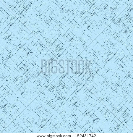 Imitation of old paper. Vector seamless pattern in blue color.