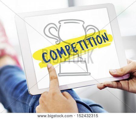Success Award Trophy Graphic Concept