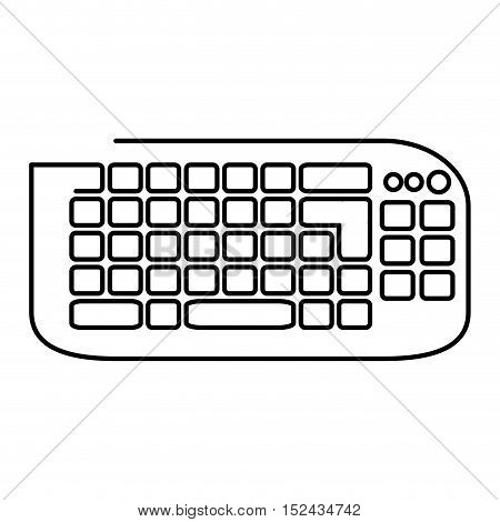 keyboard computer device isolated icon vector illustration design