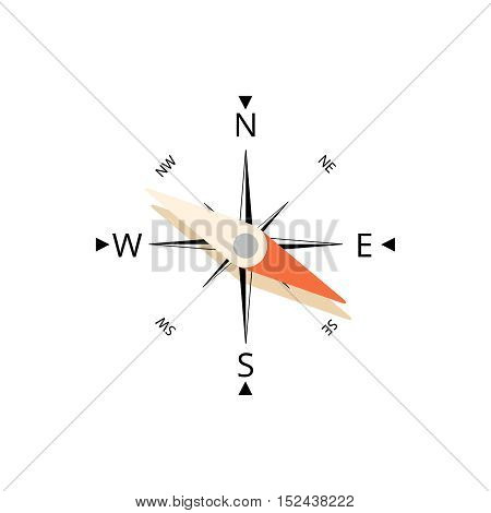 Compass icone vector illustration isolated on white background