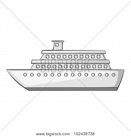 Passenger vehicle icon. Gray monochrome illustration of passenger vehicle vector icon for web