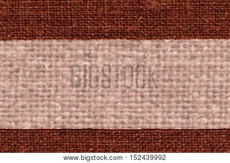 Textile yarn, fabric element, umber canvas, light material design background