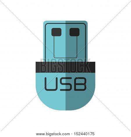 usb storage device isolated icon vector illustration design
