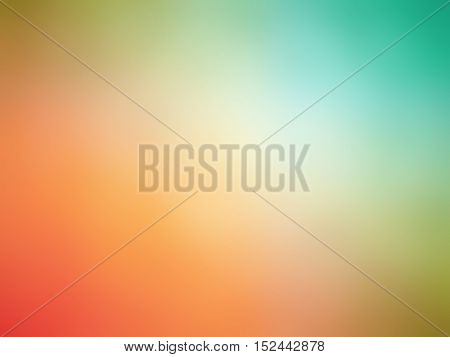 Abstract Rainbow Colored Blurred Background