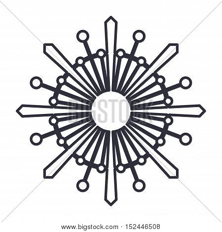 abstract snowflake icon. Merry christmas season celebration and decoration theme. Isolated design. Vector illustration