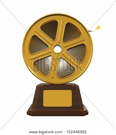 Movie Award isolated on white background. 3D render