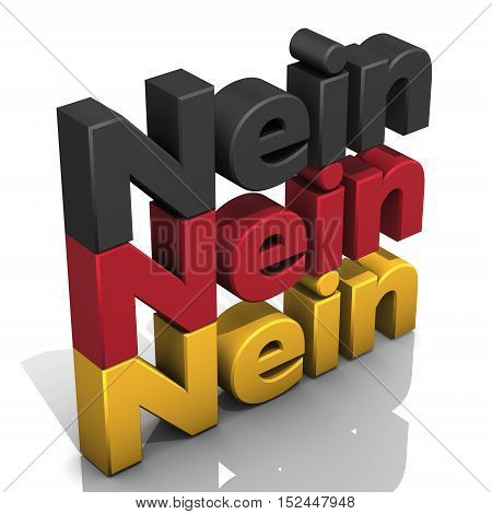 illustration, No, Nein, Germany color flag word