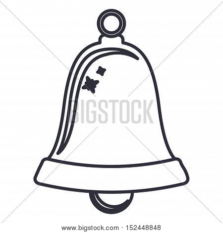Bell icon. Merry christmas season celebration and decoration theme. Isolated design. Vector illustration