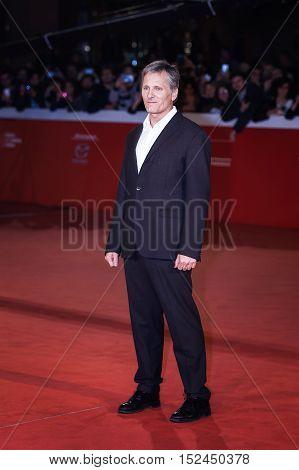 Rome Italy - October 17 2016: Viggo Mortensen walks a red carpet for 'Captain Fantastic' During The 11th Rome Film Festival at Auditorium Parco Della Musica.